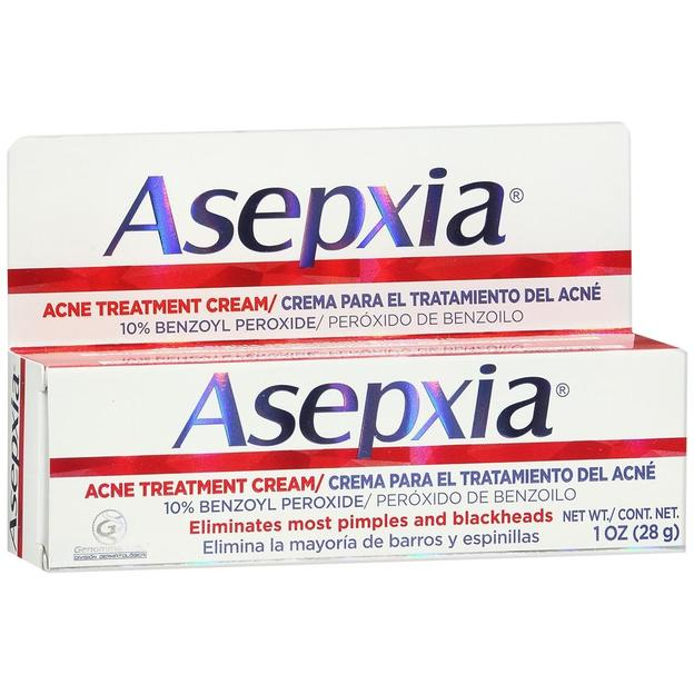 Asepxia Acne Treatment Cream Crema Facial Aclarante 1 0 Oz 28g