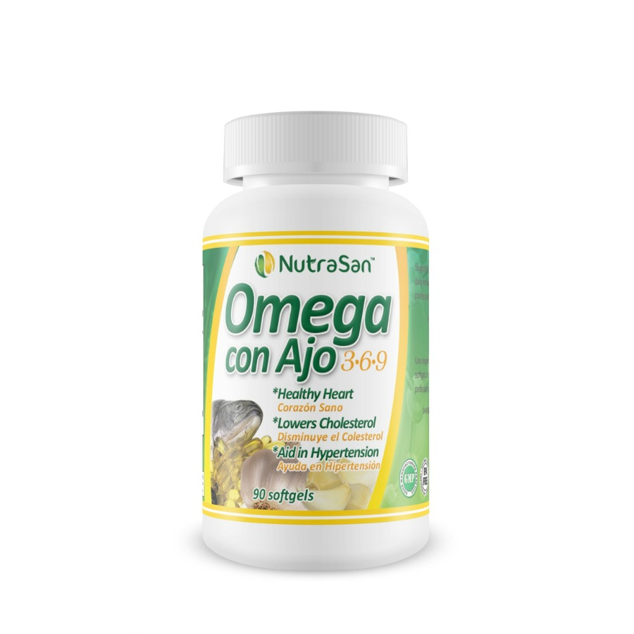 Nutrasan Omega Con Ajo 3 6 9 Dietary Supplement 90 Softgels
